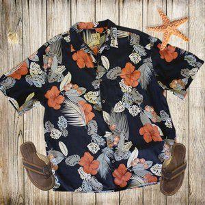 Men's Jos. A. Bank Silk Floral Button Front Shirt